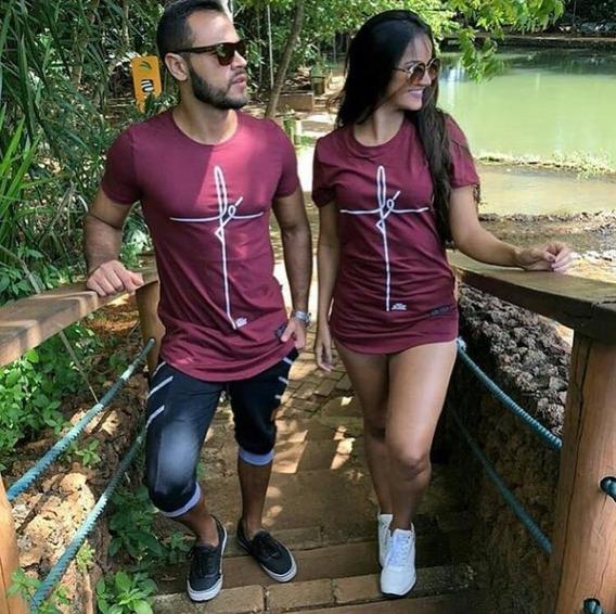 Conjunto Casal Camisa E Vestido Love, Mozão, Fé.