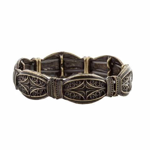 Bracelete Ouro Velho Boho Gipsy Estilo