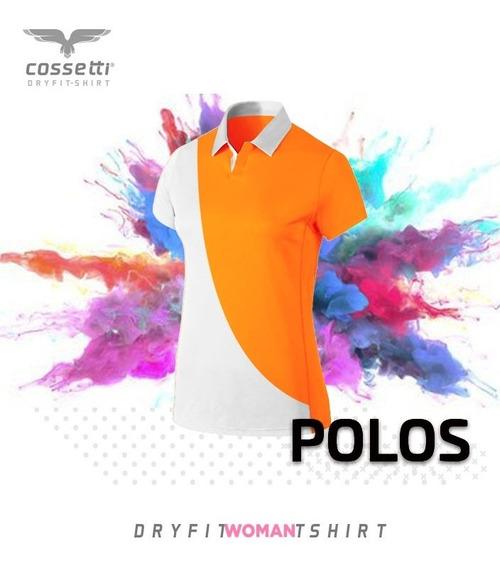 Playera Tipo Polo Cossetti Manga Corta Dry Fit Duo Fit Xl