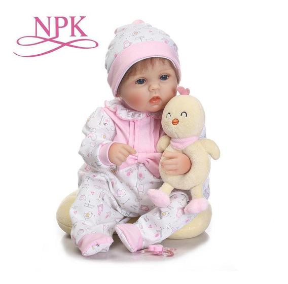 Npk Bebes Reborn Juguetes Modelo Silicona Realista Con Ropa