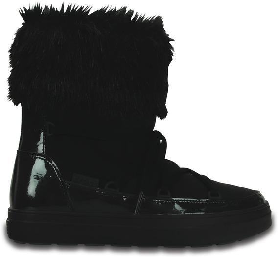 Bota Dama Crocs Lodgepoint Lace Boot W Negra