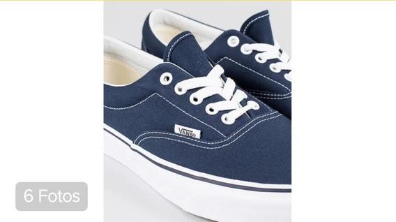 Tenis Vans Era Azul Marinho/branco Original Nota Fiscal