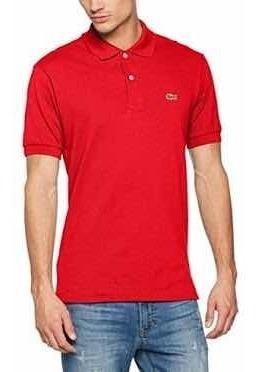 Polo Lacoste Color Rojo En Corte Slim Fit Nueva Y Original