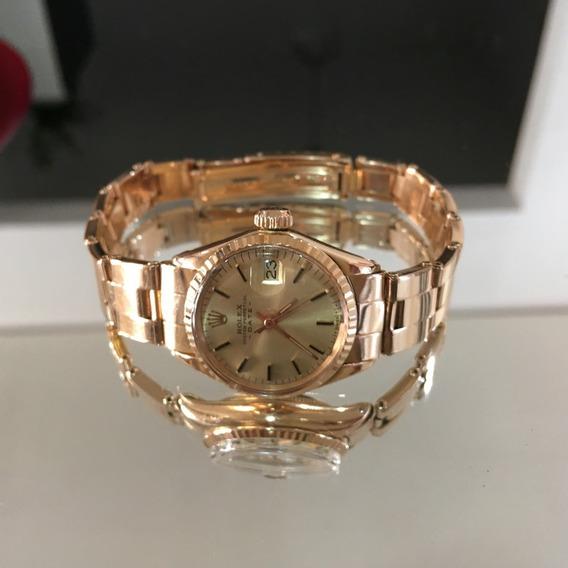 Rolex Raro Presidente Ladies Ouro 18k Um Novo Custa + 120mil