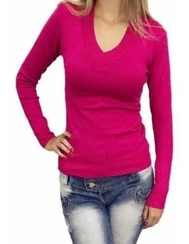 Blusa De Frio Feminina Casaco Cardigan Lã Tricot Liso