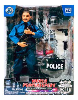 Muñeco Policia Articulado 30cm Accesorios New 90178 Bigshop