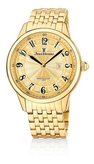 Relógio Pulso Jean Vernier Com Calendário Masculino Jv01128