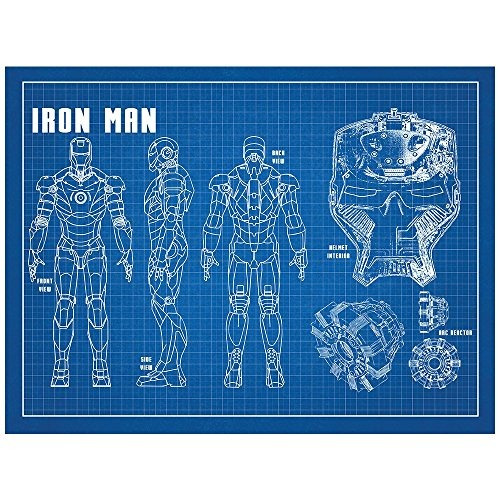 Inked And Screened Sci-fi & Fantasy Design Art Poster Iron