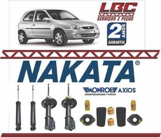 Kit 4 Amortecedor Nakata + Kit Axios Pick-up Corsa 95 A 2003