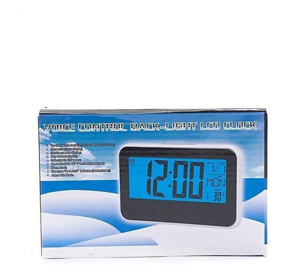 Relógio Digital Led Despertador Com Data E Termômetro