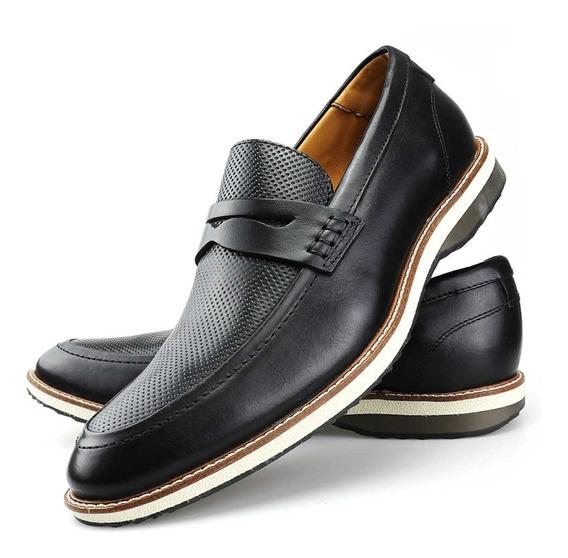 Sapato Social Nevano Masculino Couro Oxford Brogue Mocassim