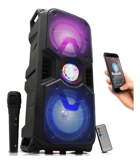 Caixa Som Amplificada Bluetooth 20w Portátil Usb Microfone