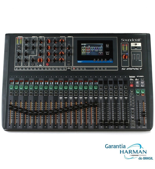 Mesa De Som Digital Si Impact - 32 Ch - 16aux Soundcraft