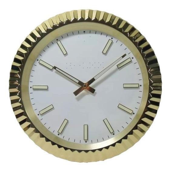 Relógio De Parede Decorativo Aço Inox Oyster Perpetual
