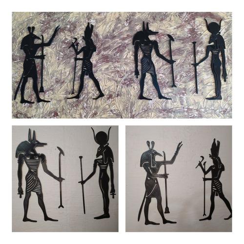 Imagen 1 de 3 de Decoración Pared Dioses Egipcios Horus, Anubis, Set Y Asar