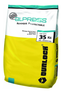 Yeso Alpress Proyectable Durlock X 35 Kg - Manual X 25 Kg