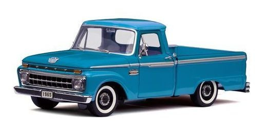 1965 Ford F-100 Pickup Azul - Escala 1:18 - Sun Star