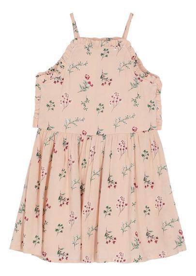 Vestido Corto Estampado Flores De Niñas C&a 1047941
