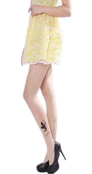 Medias Tatuaje Cupido, Omg Moda Japonesa Kawaii Pantimedia