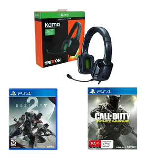 Audífonos Gamers Tritton Kama Ps4 Xbox Switch + 2 Juegos Ps4