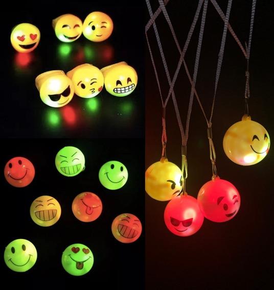Combo Luminoso Emoji Infantil 10 Niños Led Neon Nenes Chicos