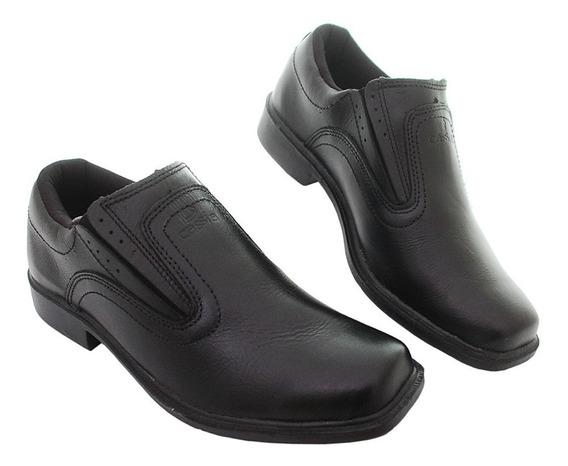 Kit Com 3 Sapatos Social Salto Masculino Couro Vaqueta