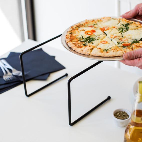 Stand Para Pizza 9x8x7 De Metal Negro Para Mesa
