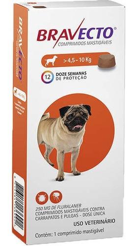 Imagem 1 de 1 de Antipulgas Bravecto Para Cães De 4,5 A 10kg