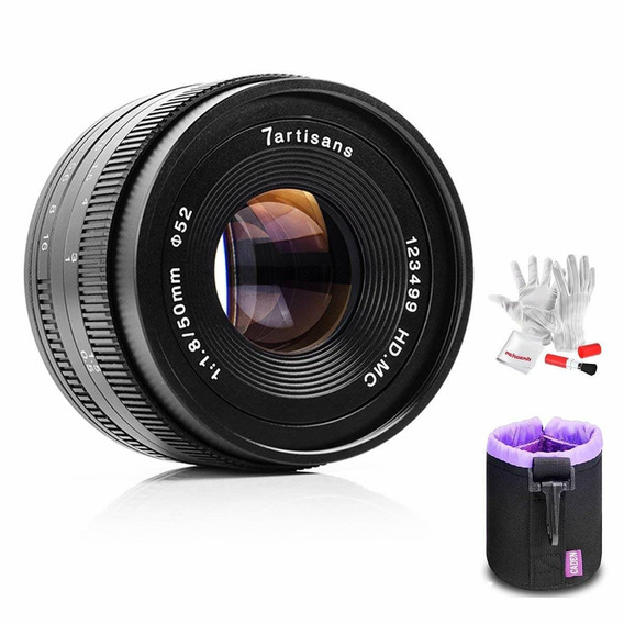 7artisans 50mm F1.8 Fuji X Mount Prime Portrait Lens For Fuj