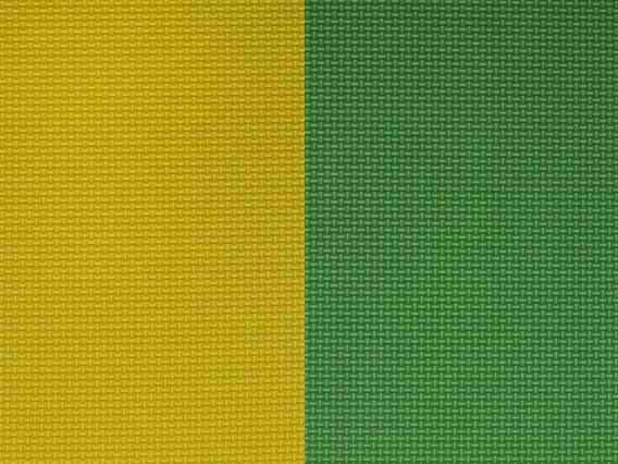 Piso Goma Eva 25mm De 1.00x1.00 Mt Verde-amarillo