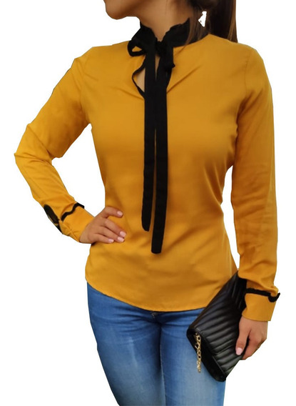 Blusa Casual Formal Con Listo Para Dama Mujer