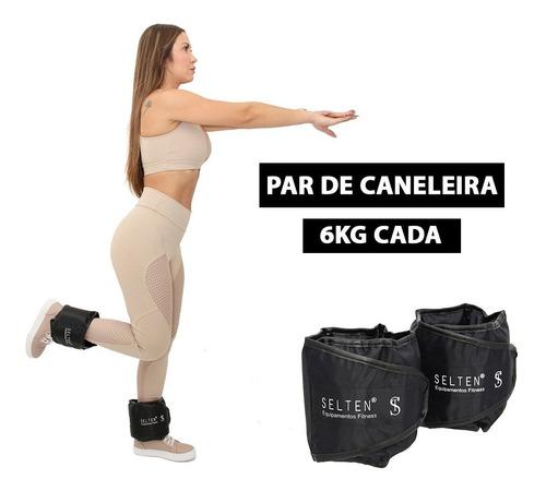 Imagem 1 de 8 de Caneleira Academia 6 Kg Tornozeleira Peso Para Treinar Full