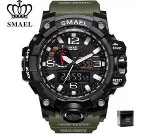 Relógio Smael Original Na Caixa Tático A Prova D
