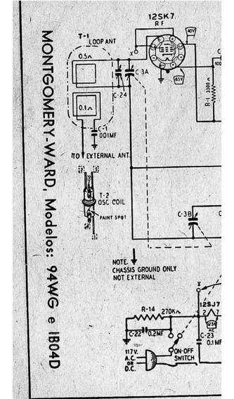 Esquema Radio Montgomery Ward 94wg 1b04d Em Pdf