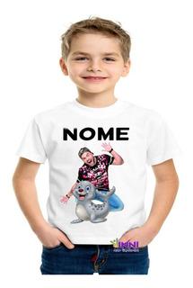Camiseta Camisa Personalizada Infantil Luccas Neto Foca Nova