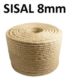 Corda Sisal Natural 8mm Artesanato Uso Geral 25 Metros