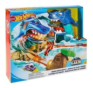 Hot Wheels City Pista Batalla En Playa Tiburon Fnb21 Mattel