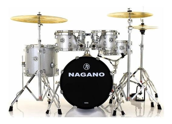 Bateria Nagano Garage Gig 13 10 12 14 18 Gs Grey Sparkle