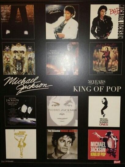 Quadro Decorativo Madeira Michael Jackson Álbuns