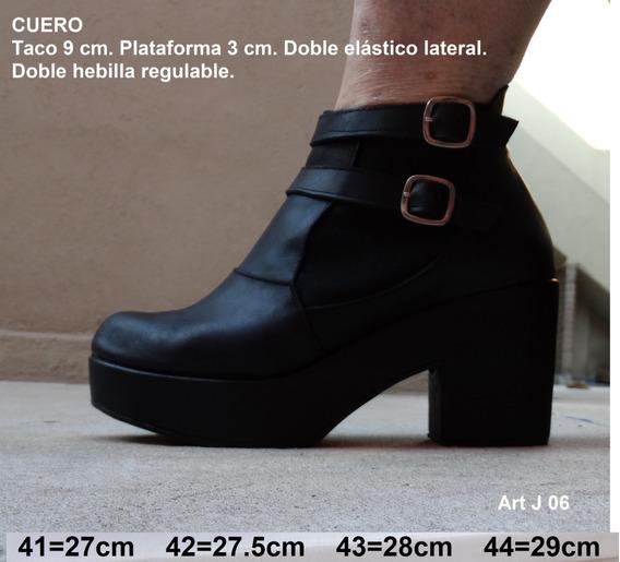 Botineta De Cuero Con Elástico - Talles 41 42 43 44 - Artj06