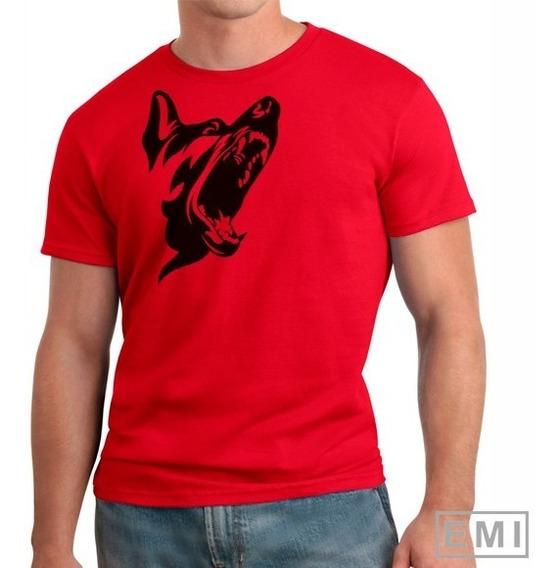 Camiseta Cuidado Cachorro Cão Bravo