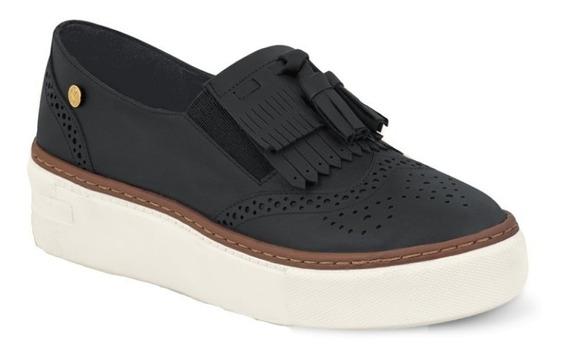 Calzado Zapato De Moda Dama Mujer Confort Piel Negro