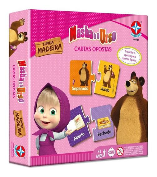 Jogo Cartas Opostas Masha E O Urso - Estrela Estrela