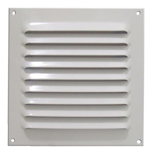 Grade De Ventilação Quadrada Alumínio Branca Itc 20x20cm