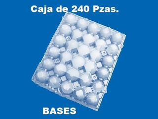 Caja De 240 Pz. Base Estuche Plástico Blister Para 30 Huevos
