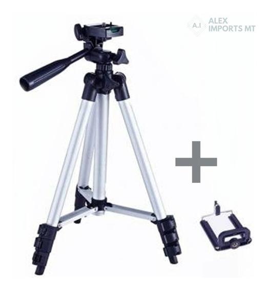 Tripé Universal Telescópico Para Câmera E Celular Videos