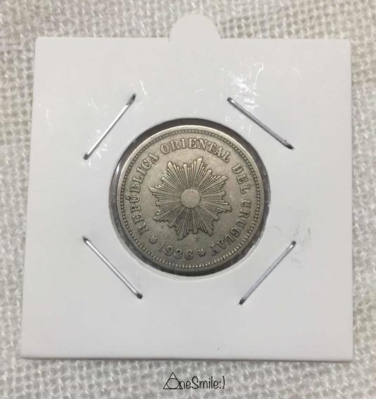 Onesmile:) Moneda Uruguay 1936 5 Centésimos Estado Perfecto