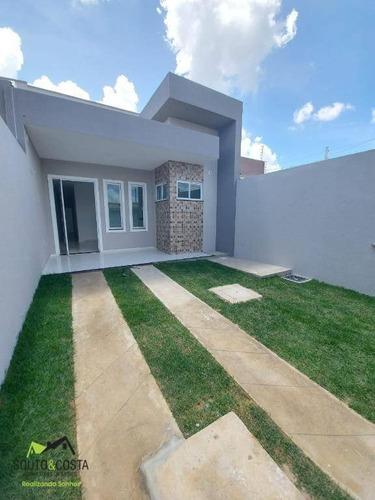 Imagem 1 de 13 de Casa Com 3 Dormitórios À Venda, 88 M² Por R$ 160.000 - Pedras - Fortaleza/ce - Ca0511