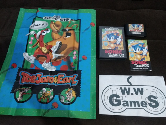 Mega Drive - Sonic The Hedgehog - Completo E Original