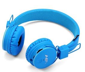 Romex X2 3.5mm Bluetooth 4-in-1 Blue Headphones Frete Grates